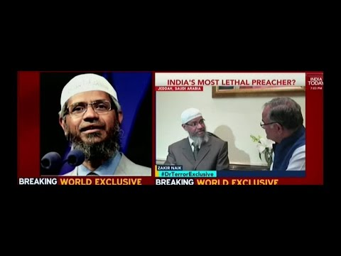 Dr.Zakir Nair First time Interview on India Today,Challenges Media  for open Debate.