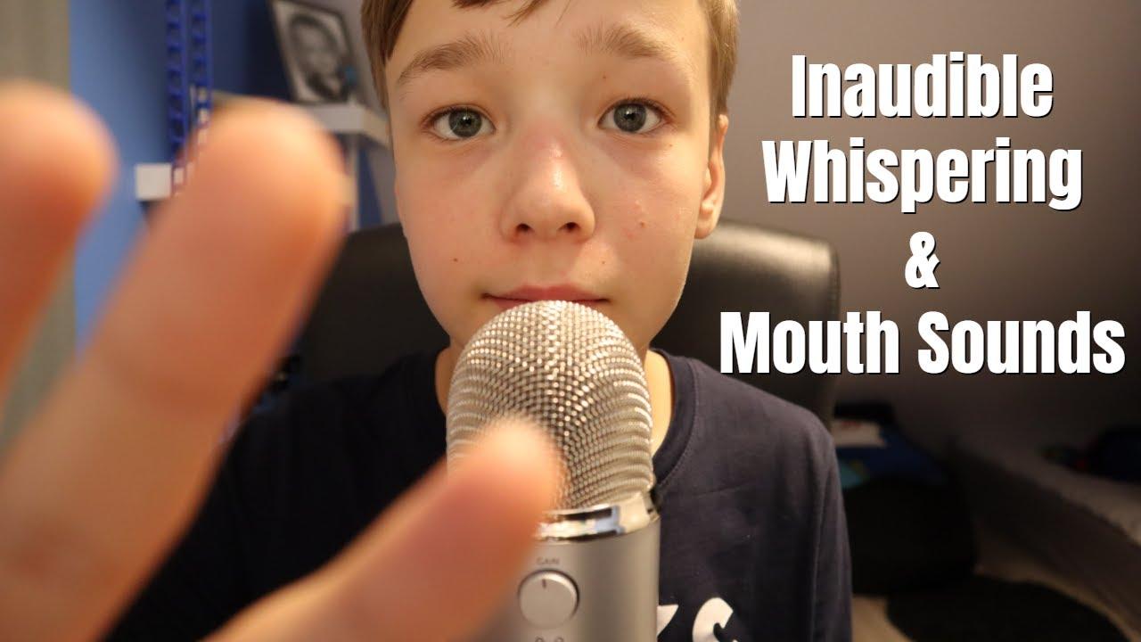 ASMR Inaudible Whispering & Inaudible Trigger Words + Mouth Sounds & Hand Movements