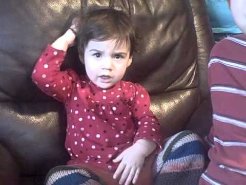 My Baby Girl Talking and Signing 19 Months Old