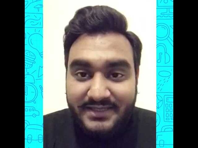 Sharing the video of one of our former students -Rizwan Khan