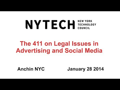 The 411 on Legal Issues in Advertising and Social Media