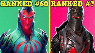 RANKING EVERY LEGENDARY SKIN FROM WORST TO BEST! (Fortnite Battle Royale!)