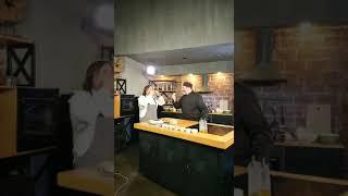 Олег Ольхов готовит с Гия Гагуа