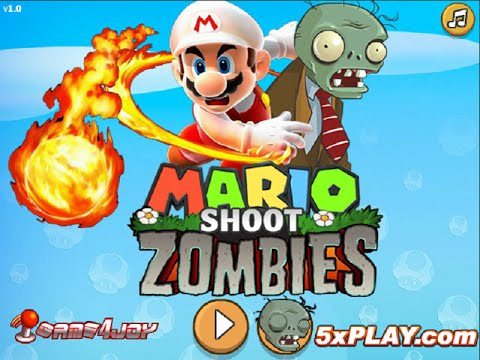 Super Mario Shoot Zombie Cartoon Game Video New Game Show 2015