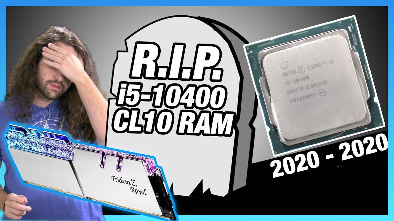 Intel i5-10400 CL10 RAM Timings Tune vs. AMD R5 3600, i5-10600K, 3300X CPU Overclocks - Gamers Nexus