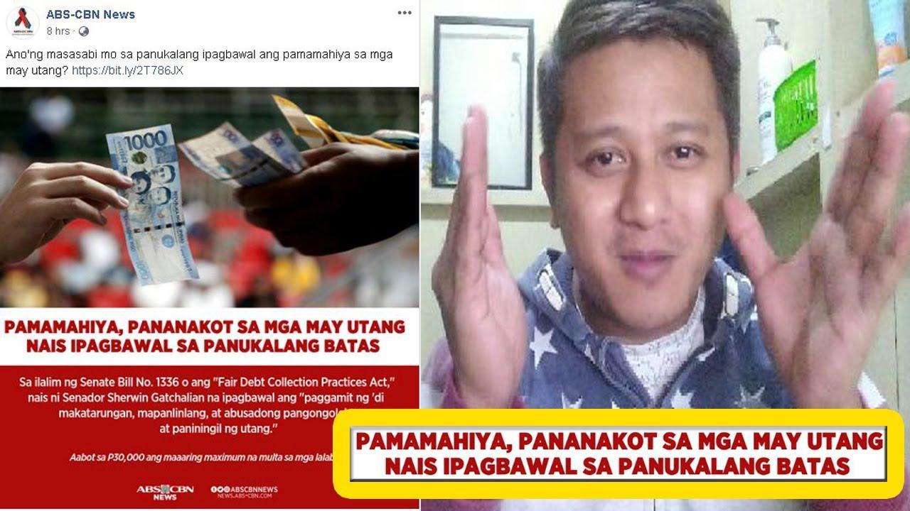 BREAKING NEWS | Pamamahiya, pananakot sa mga may utang, nais ipagbawal sa  panukalang batas - YouTube
