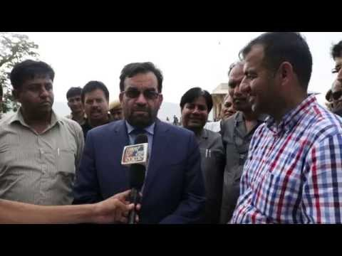 Ali Ahmad Osmani Minister to MEW Afghanistan interview in site visit in Jaipur India