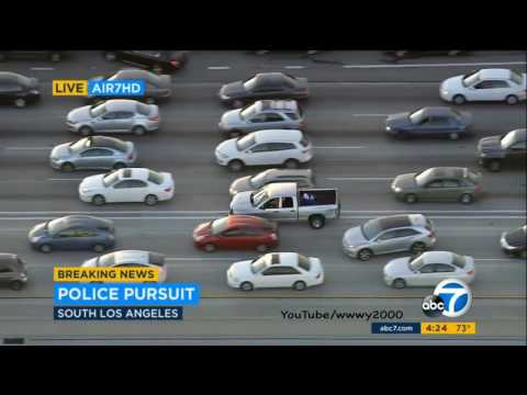 California Los Angeles Police Department High Speed Chase DRUNK DRIVER KABC