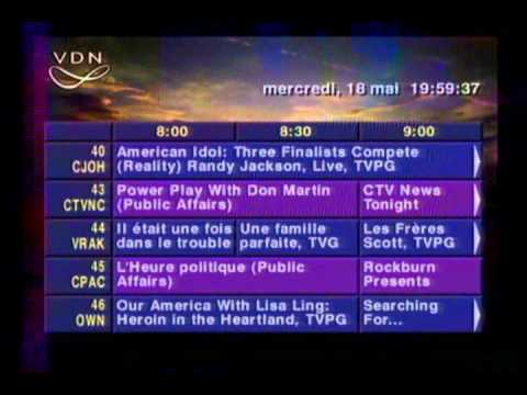 Montreal Cable VDN TV Program Guide from 2011