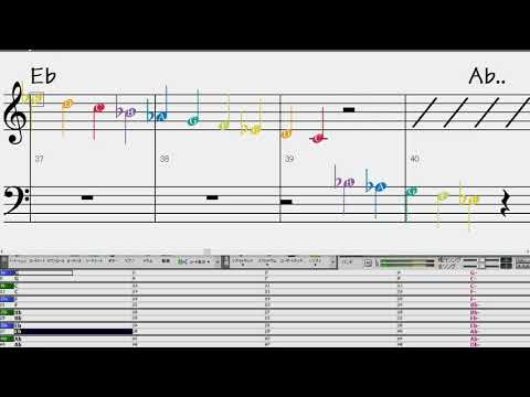 Major Scale 2-octave UpDown BPM=50 ソルフェージュ Doublebass