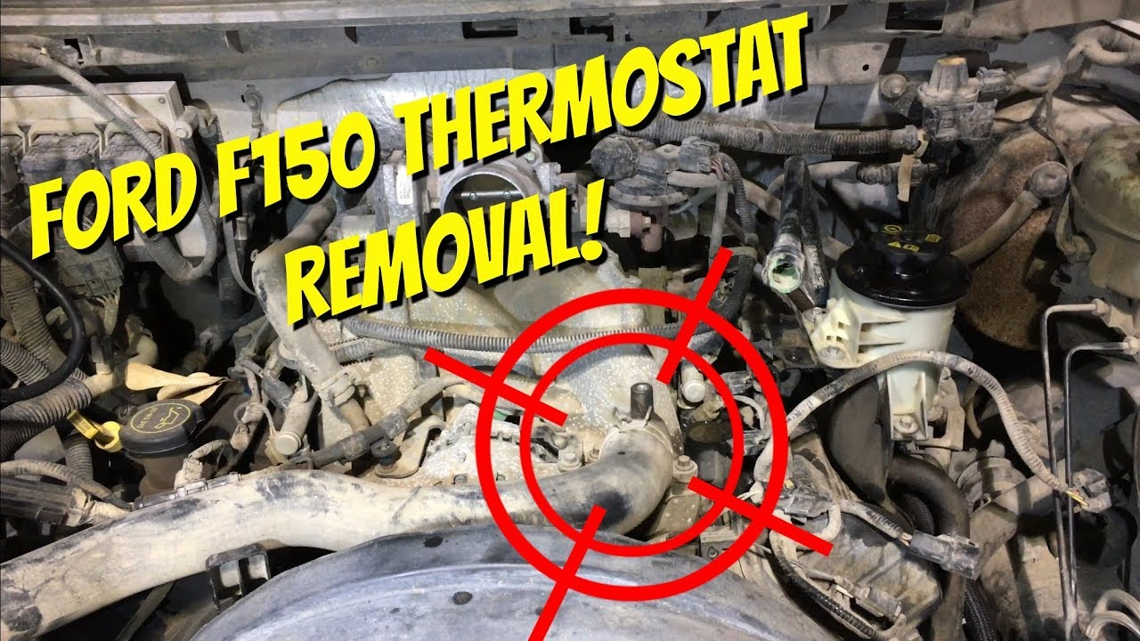 small resolution of diy thermostat replacement ford 5 4l f150 expedition