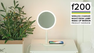 Fridja f200 Wireless Fast Charging Led Mirror Desk Lamp  - Product Overview!