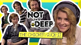 SUCK IT CHALLENGE w/ THE GREGORY BROTHERS // Grace Helbig Thumbnail