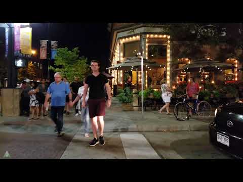 Walk Here: Boulder Colorado Evening - Pearl Street Mall - 4K/UHD 60fps