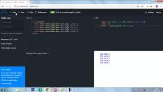 Запускаем JS CSS HTML в онлайн редакторе JSFIDDLE