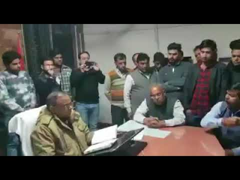 Meerut: bjp leader trying to disturb law and order situation, threated police
