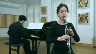 """Flicker"" by Michel Galante. Carol McGonnell, clarinet."
