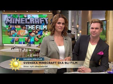 Minecraft blir film - Nyhetsmorgon (TV4)