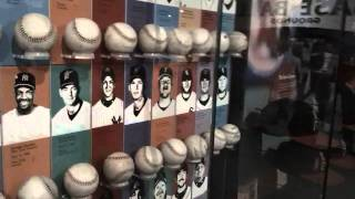 No Hitter Display Case At The Baseball Hall Of Fame