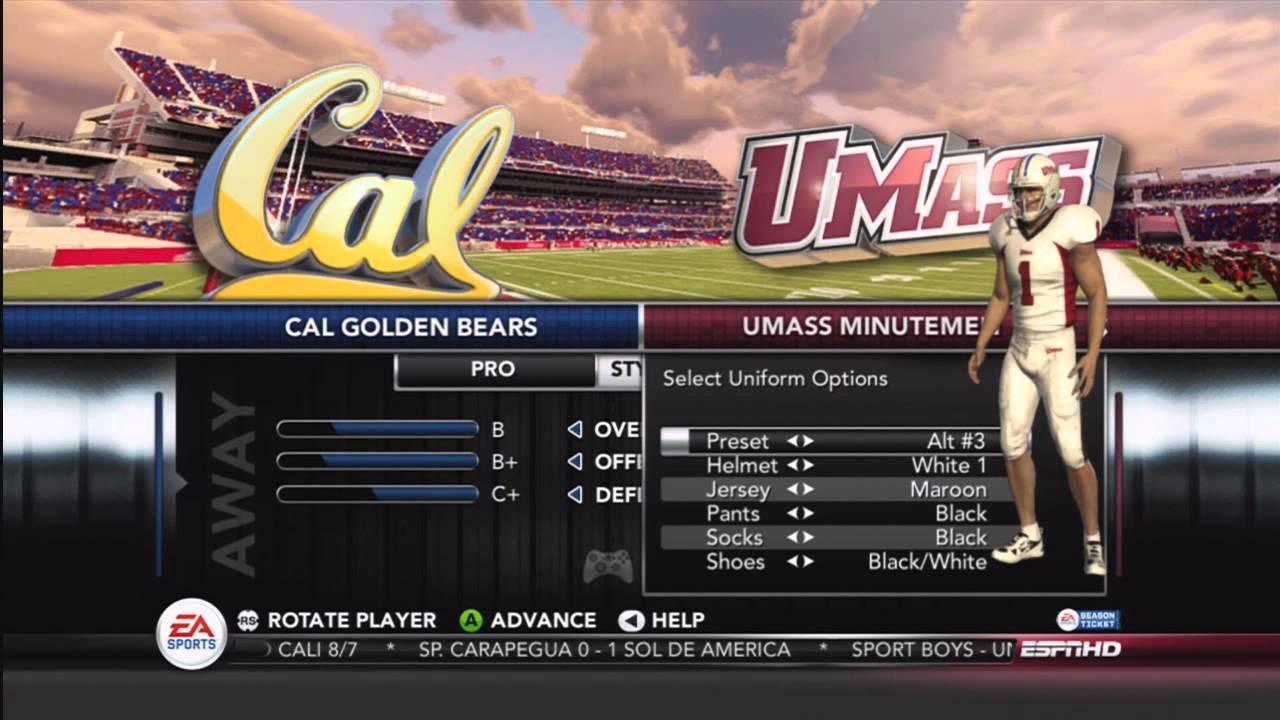 NCAA Football 13 - Texas State, UMASS, and UTSA in NCAA 13! (New Division-1  Teams)