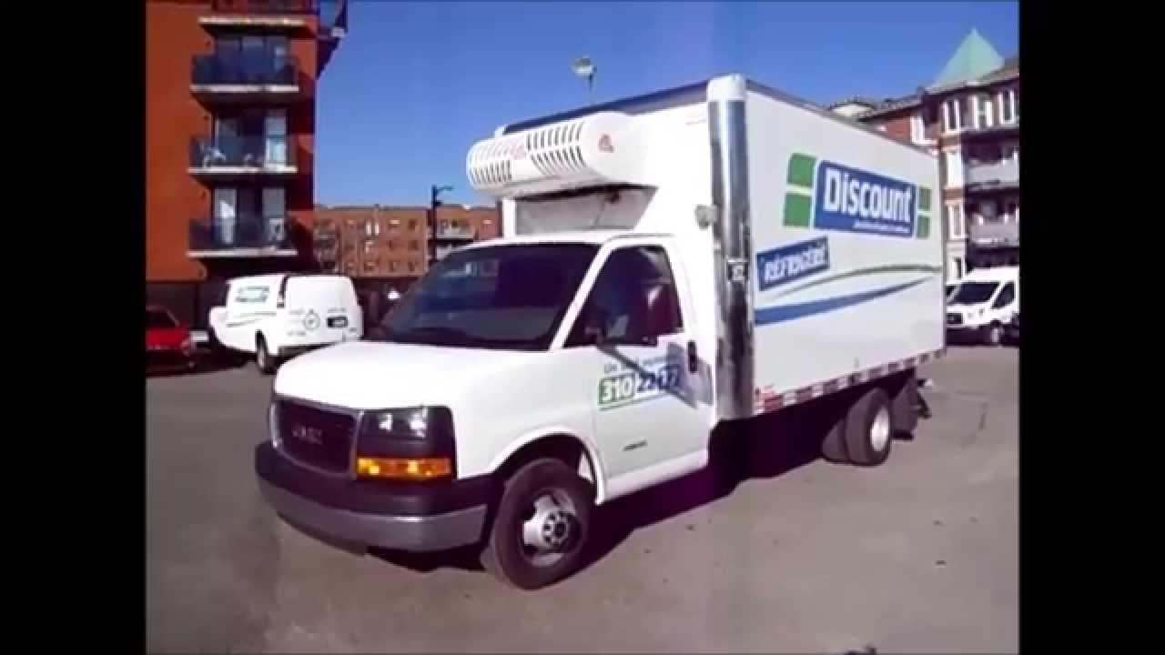 discount qu bec camion cube 14 pieds r frig r youtube. Black Bedroom Furniture Sets. Home Design Ideas