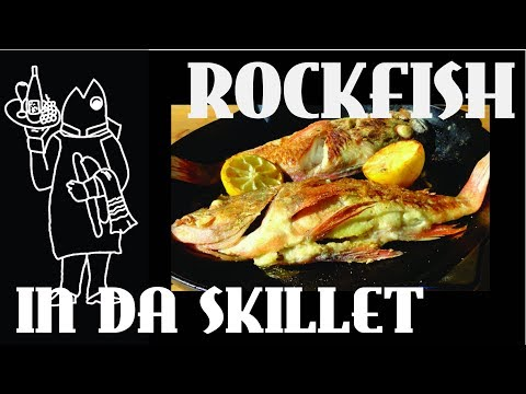 Rockfish Recipe 😛 ? How To Pan Fry Then Roast A Whole Fish In The Oven!