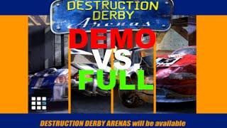 Destruction Derby Arenas - Demo VS Full Version [Comparison]