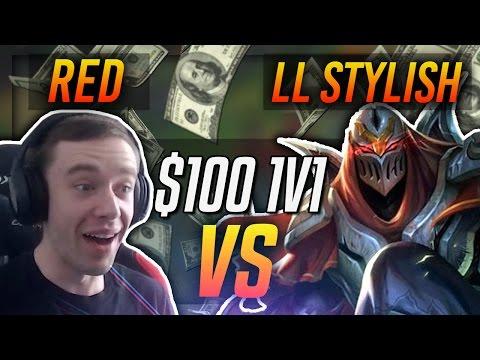 REDMERCY VS LL STYLISH (#1 Zed NA) | $100 1v1 SHOWDOWN!! - League of Legends
