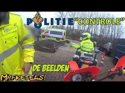 BEELDEN WOKSTATUS | BROMMER OP DE ROLLERBANK BIJ POLITIE CONTROLE