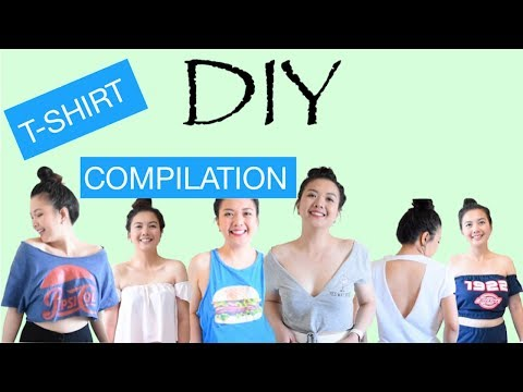 Easy & Fast Cut Out T-Shirt DIY Ideas,Patterns,Designs Compilation & MORE