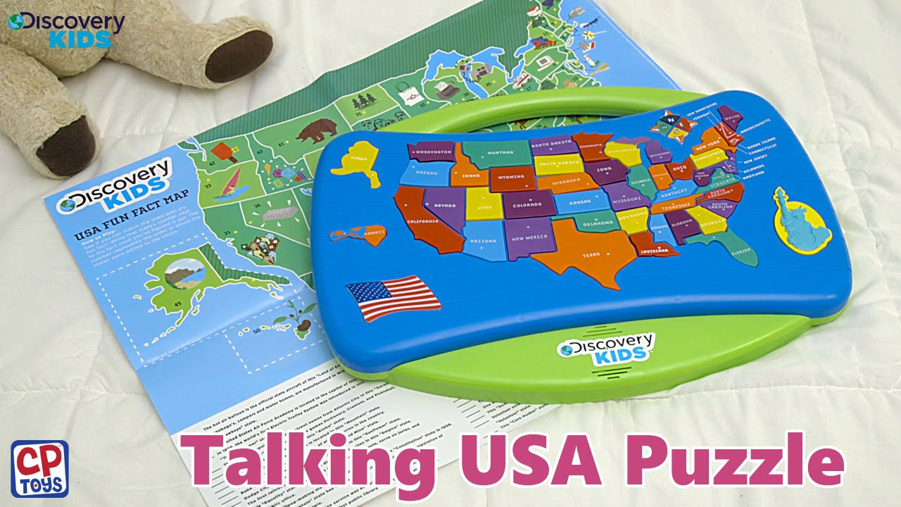 CP Toys Talking USA Puzzle YouTube - Map usa states drag and drop