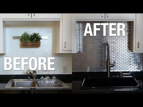 Installing Stainless Steel Kitchen Backsplash! | Superholly