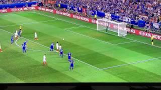 GOL 1-0 Inghilterra Islanda - Campionati Europei 2016 - Rigore Rooney