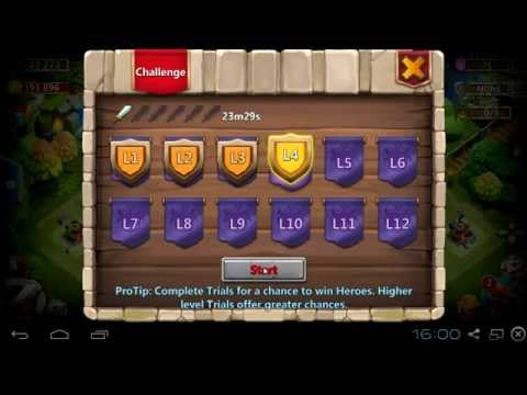 #061 Hero Trials Are Too Difficult L1,L2,L3,L4 - Castle Clash