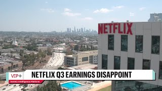 Why Netflix's Q3 Earnings Were Less than Projected