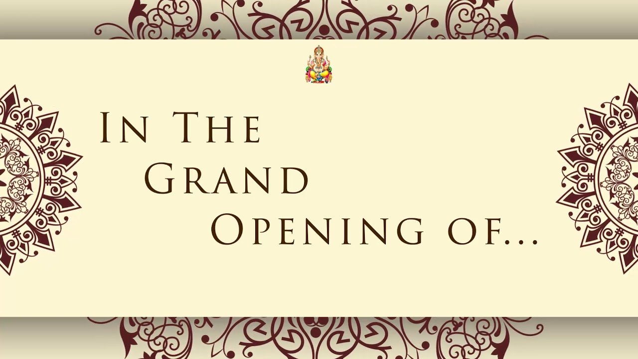 shop opening video invitation card