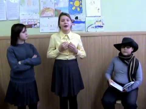 Изображение предпросмотра прочтения – «Кунгур, КЦО №1, Аня, Никита и Аня» читают произведение «Листы и Корни» И.А.Крылова