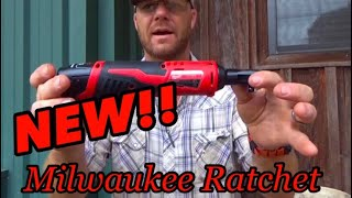 UNBOXING THE NEW BATTERY POWERED MILWAUKEE 3/8 DRIVE RACHET👍👍👍