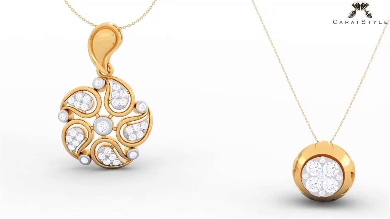 Diamond Pendants - Diamond & Gold Pendant Designs for Women ...