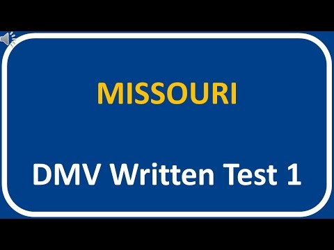 Missouri DMV Written Test 1