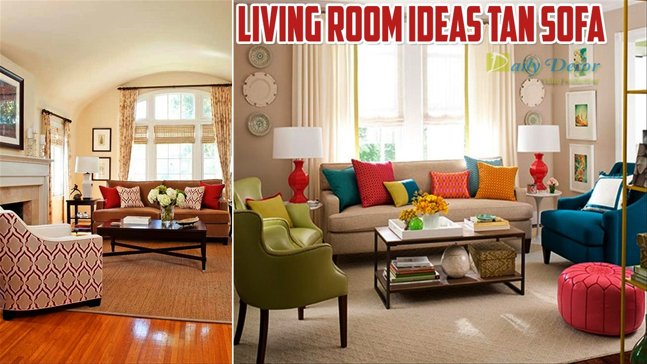 [Daily Decor] Living Room Ideas tan Sofa - YouTube