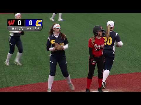 Girls Varsity Softball: WHS vs. CHS, April 11, 2018