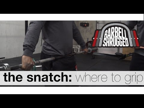 The Snatch: How Wide to Grip/ Hook Grip - Technique WOD
