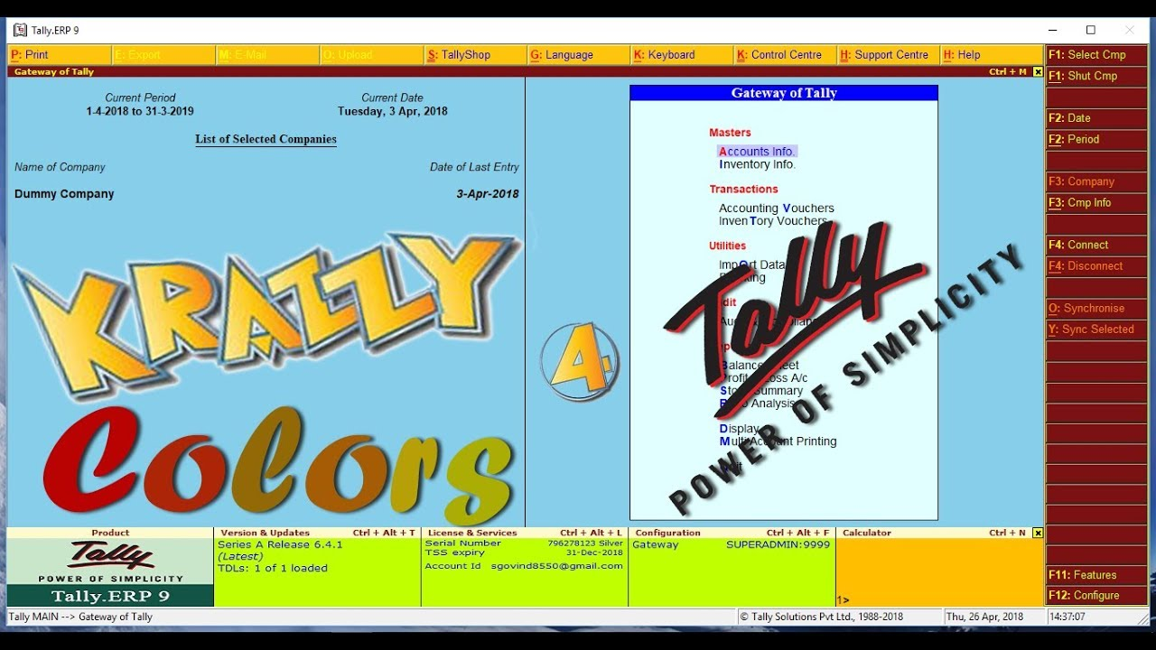 Krazzy Colour For Tally Ver 2 0 | Tally TDL | Explore Busy