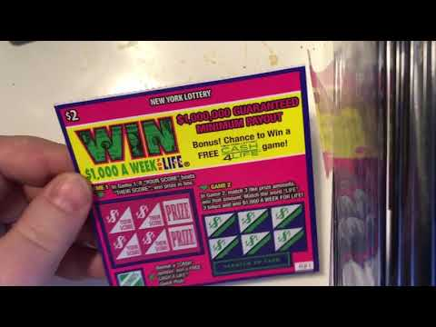 NY Lottery Win For Life Scratch Off - YouTube