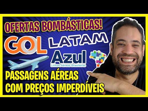 OFERTAS BOMBÁSTICAS GOL, AZUL E LATAM! A PARTIR DE R$215!