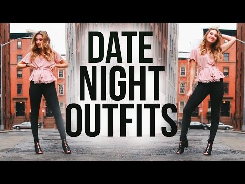 DATE NIGHT OUTFIT IDEAS | Valentine's Day Hair, Makeup, & Outfits 2017