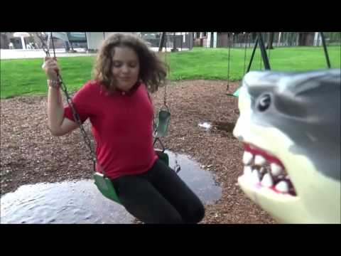 "Thumbnail: Victoria Mud Puddle Fails with Sharky the Pet Shark at Playground ""Toy Freaks"""