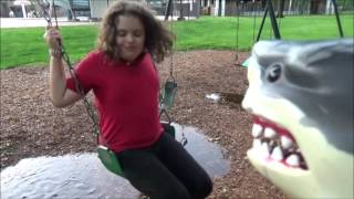 Bad Baby Daddy Crying Victoria Mud Puddle Fails with Sharky the Pet Shark at Playground Freaks