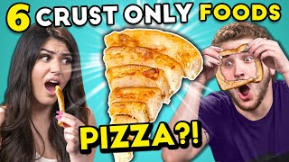 Trying The New Crust-Only Pizza | 6 All Crust Foods (React)